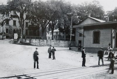 Collinsville's HN&N Railway Station image. Click for full size.