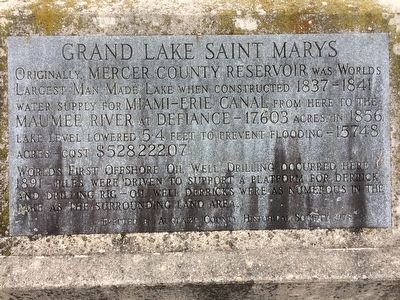 Grand Lake Saint Marys Marker image. Click for full size.
