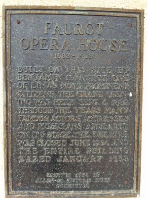 Faurot Opera House Marker image. Click for full size.