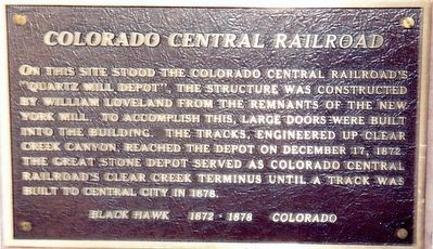 Colorado Central Railroad Marker image. Click for full size.