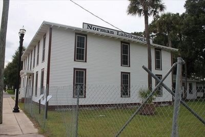 Norman Silent Film Studios Marker seen with studio building image. Click for full size.