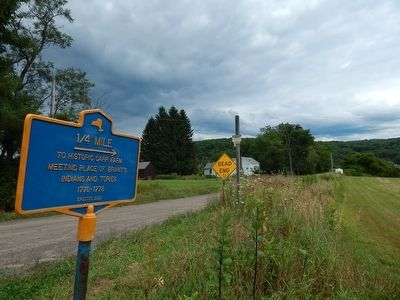 1/4 Mile To Historic Carr Farm Marker image. Click for full size.