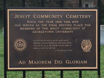 Jesuit Community Cemetery Marker image. Click for full size.