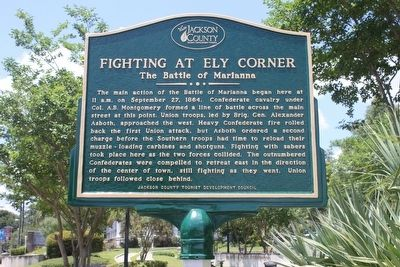 Fighting at Ely Corner-The Battle of Marianna Marker image. Click for full size.