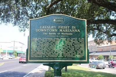 Cavalry Fight in Downtown Marianna Marker image. Click for full size.