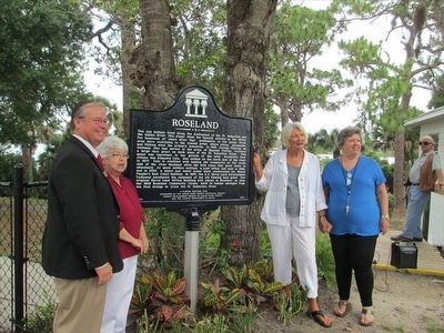 Roseland Marker Dedication image. Click for full size.