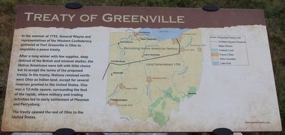 Treaty of Greenville Marker image. Click for full size.