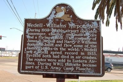 Wedell - Williams Airport Site Marker image. Click for full size.