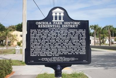 Osceola Park Historic Residential District Marker image. Click for full size.