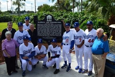 Baseball and Dodgertown Marker Dedication image. Click for full size.