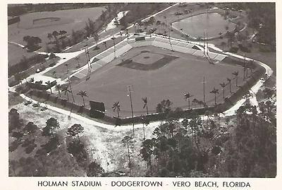 Dodgertown Postcard from the air image. Click for full size.