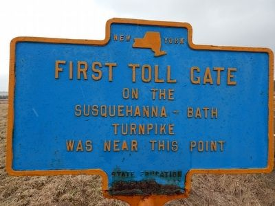 First Toll Gate Marker image. Click for full size.