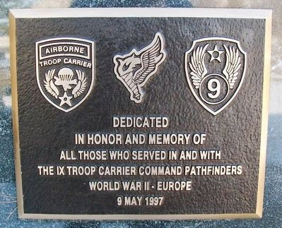 IX Troop Carrier Command Pathfinders Marker image. Click for full size.