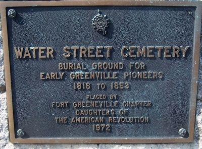 Water Street Cemetery Marker image. Click for full size.