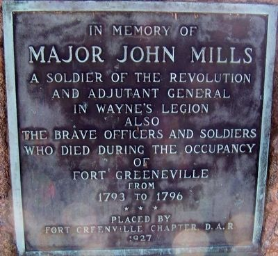 In Memory of Major John Mills Marker image. Click for full size.