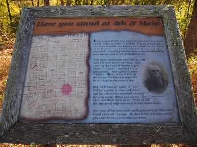 Here you stand at 4th & Main Marker image. Click for full size.