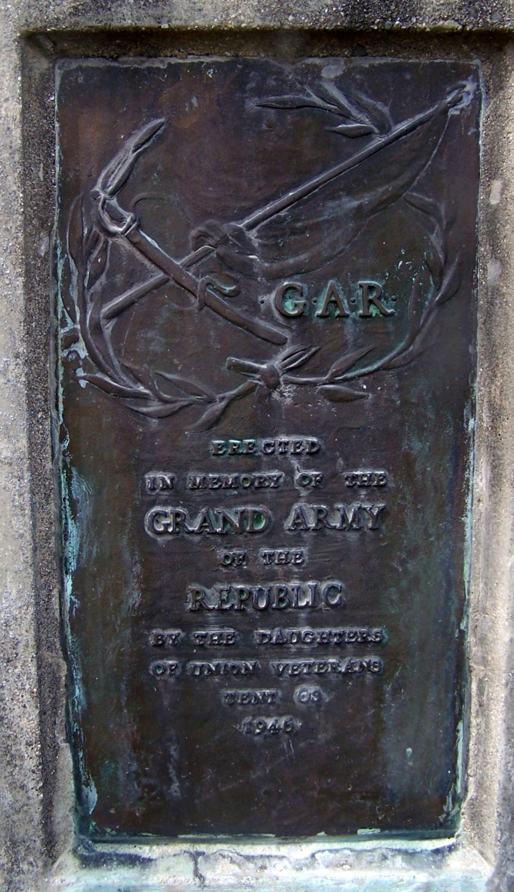 In Memory of the Grand Army of the Republic Marker