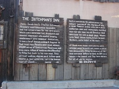 The Dutchman's Inn Marker image. Click for full size.