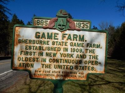 1885-1935 Game Farm Marker image. Click for full size.