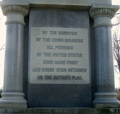 Darke County Civil War Monument (north side) image. Click for full size.