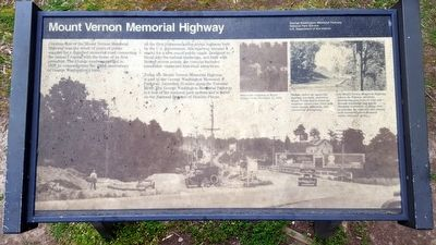 Mount Vernon Memorial Highway Marker image. Click for full size.