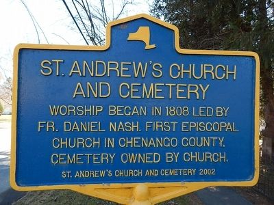 St. Andrews Church and Cemetery Marker image. Click for full size.