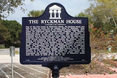 The Ryckman House Marker image. Click for full size.