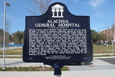 Alachua General Hospital Marker image. Click for full size.