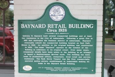 Bayard Retail Building Circa 1926 Marker image. Click for full size.