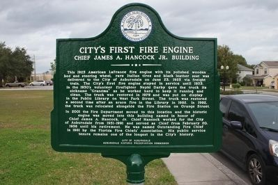 City's First Fire Engine Marker image. Click for full size.