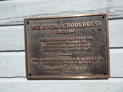 One Room Schoolhouse Marker image. Click for full size.
