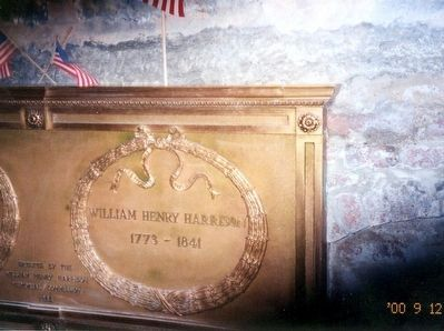 William Henry Harrison-Inside the crypt- the tomb image. Click for full size.