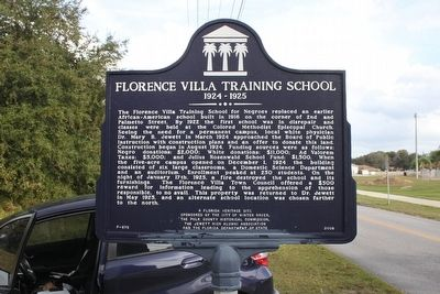 Florence Villa Training School 1924-1925 Marker image. Click for full size.