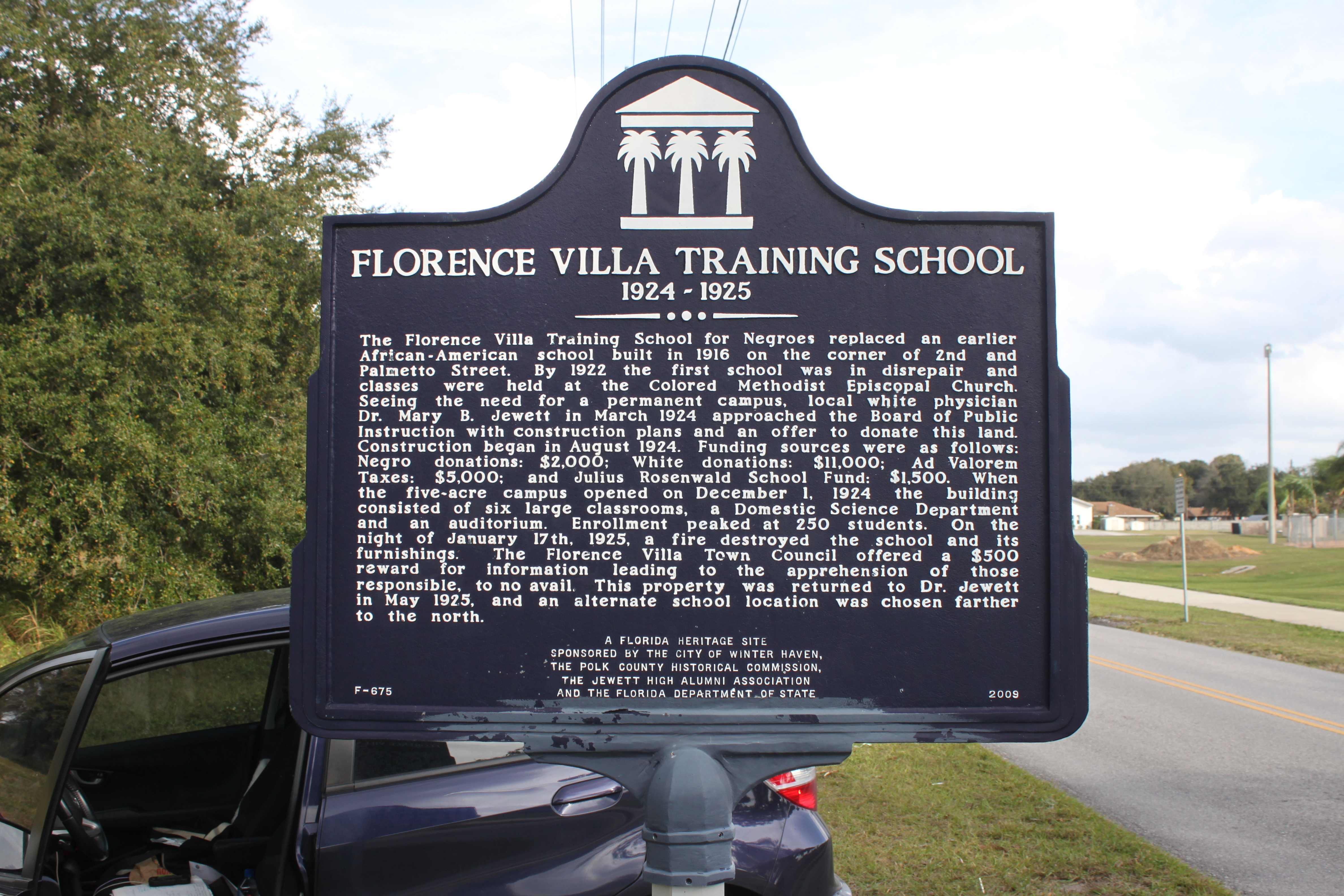 Florence Villa Training School 1924-1925 Marker
