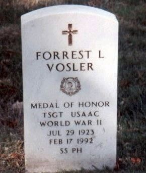T/Sgt Forrest L. Vosler-World War II Medal of Honor Recipient image. Click for full size.