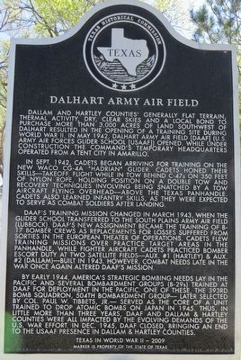 Dalhart Army Air Field Marker image. Click for full size.