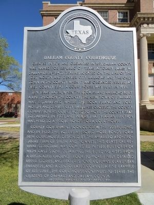 Dallam County Courthouse Marker image. Click for full size.