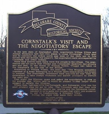 Cornstalk's Visit and the Negotiators' Escape Marker image. Click for full size.