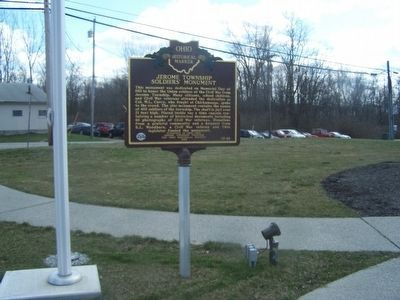 Jerome Township Soldier's Monument Marker (side a) image. Click for full size.