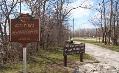 Site of Fort Deposit / Roche de Boeuf Marker image. Click for full size.