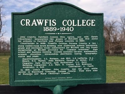 Crawfis College Marker image. Click for full size.