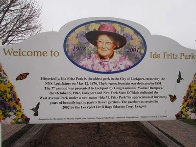 Welcome to Ida Fritz Park Marker image. Click for full size.