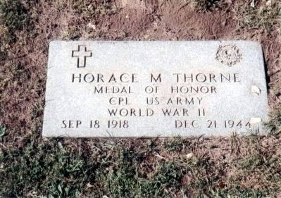 Horace M Thorne-World War II Congressional Medal of Honor Recipient image. Click for full size.