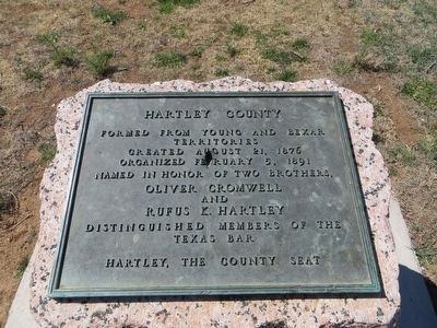 Hartley County Marker image. Click for full size.
