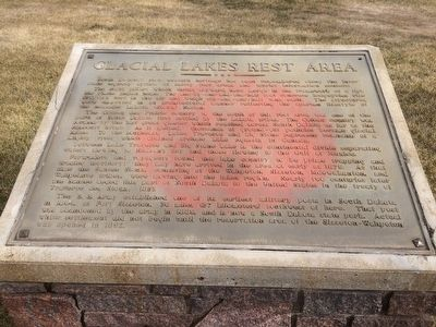 Glacial Lakes Rest Area Marker image. Click for full size.