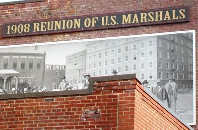 1908 Reunion of U.S. Marshals Marker Detail image. Click for full size.
