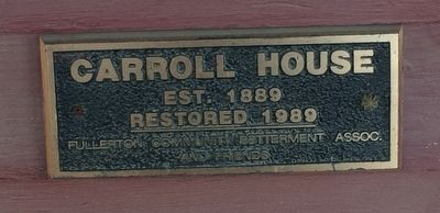 Carroll House Marker image. Click for full size.