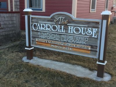 Carroll House Historic Sign image. Click for full size.