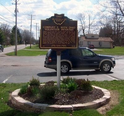 Company E, 30th Ohio Volunteer Infantry Marker (side 2) image. Click for full size.