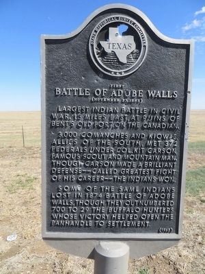 First Battle of Adobe Walls Marker image. Click for full size.